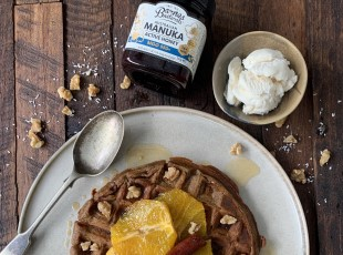 Buckwheat & Manuka Honey Spiced Waffles